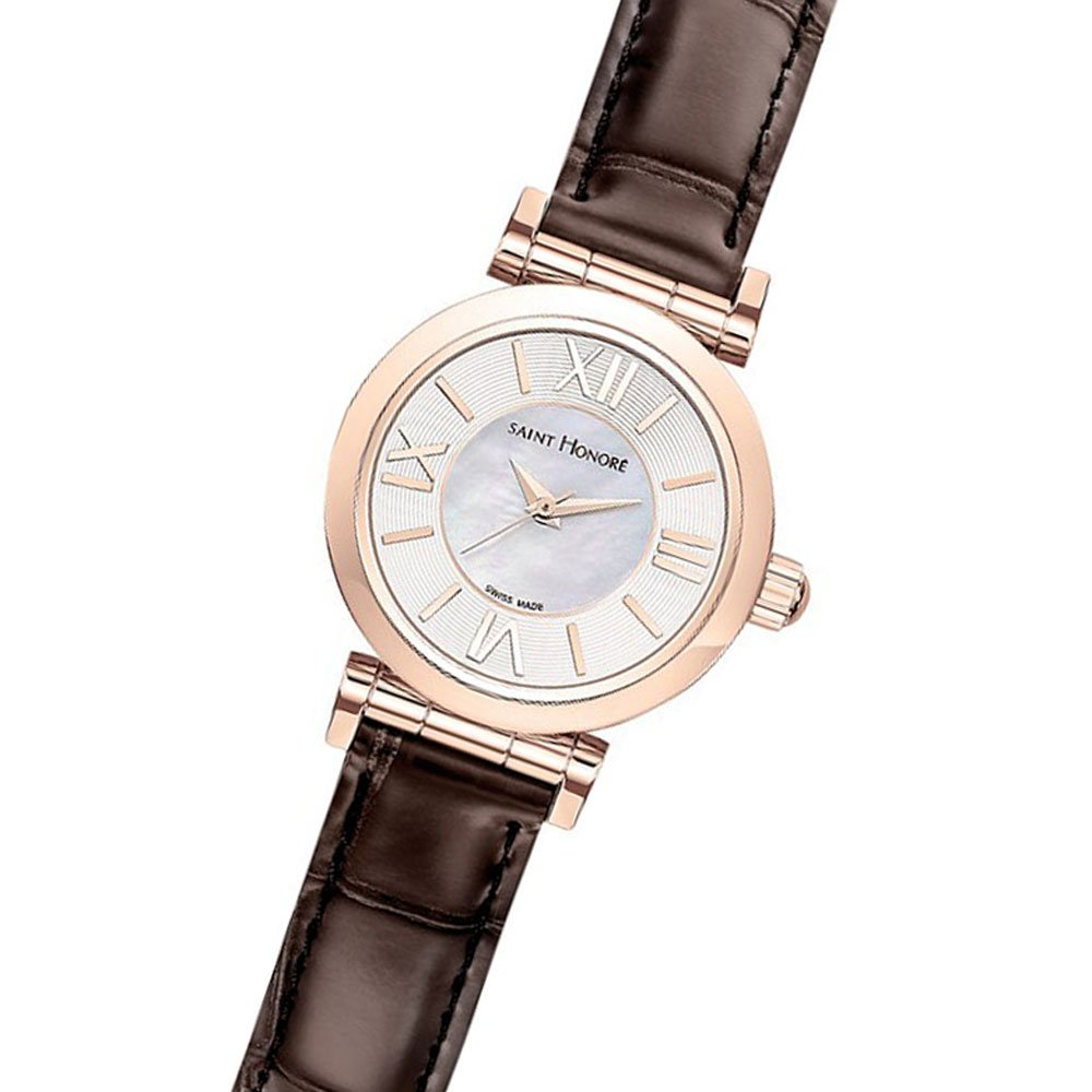 Analog Quarz 7220118yrr Mit Saint Armband Honoré Damen Leder Uhr doCWxrBe