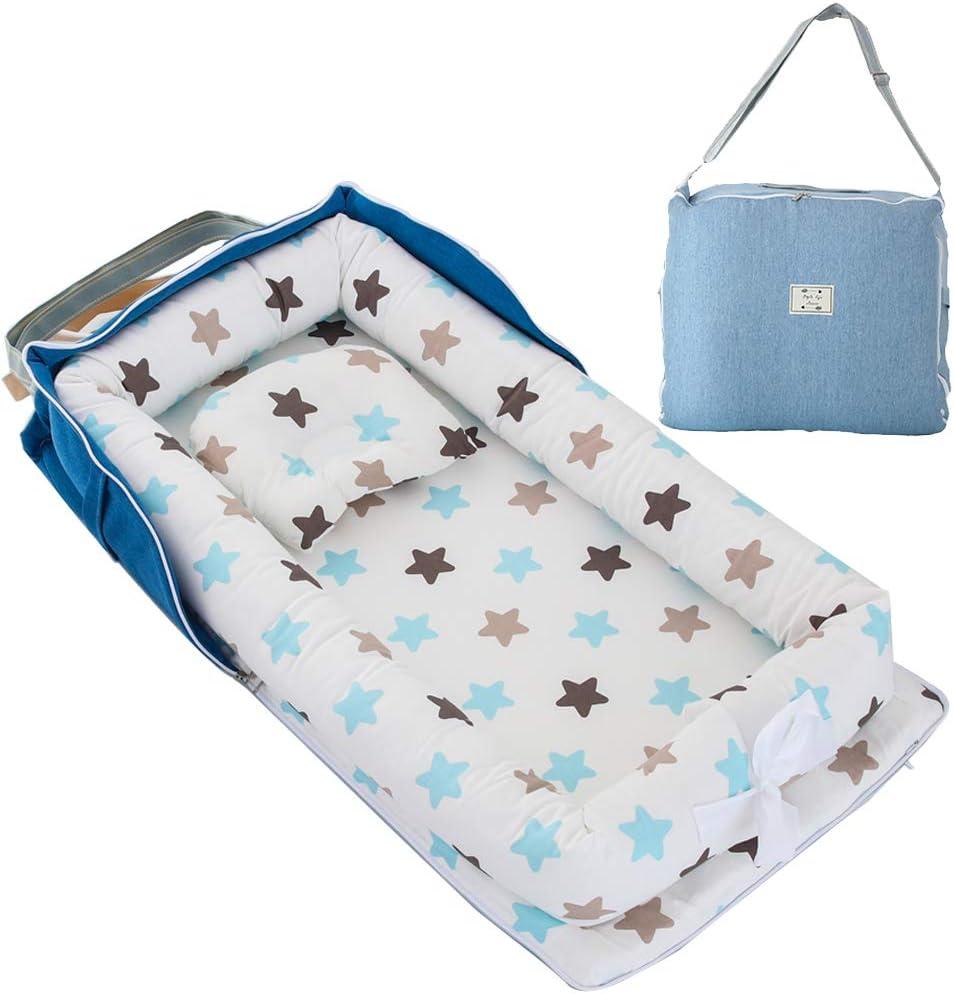 Nid pour nouveau-n/é nourrisson couronne grise TEALP Reducteur de lit Bebe Cocon baby nest pour b/éb/é couffin de voyage portable r/éducteur Lit B/éb/é