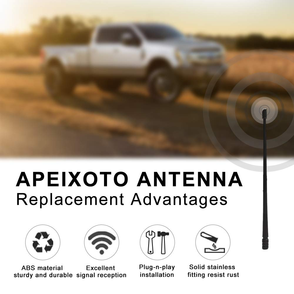 13 Inch Antenna Fit for Chevy Silverado 1500 2500 3500 GMC Sierra Denali Rubber Antenna Replacement for Optimized FM//AM Reception
