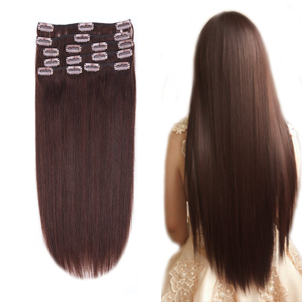 Amazon 12 22inch Clip In Remy Human Hair Extensions Grade 7a