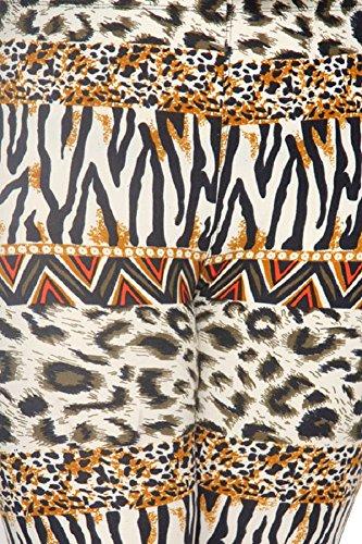 L4U Elegant4U Junior Plus New Plus Size Sexy Leopard Printed Capri - Leopard Sexy New