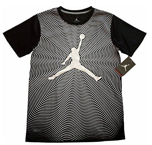 Jordan Boys Youth In The Flow Printed Dri-FIT T-Shirt Tee Black Size L (12-13yrs)