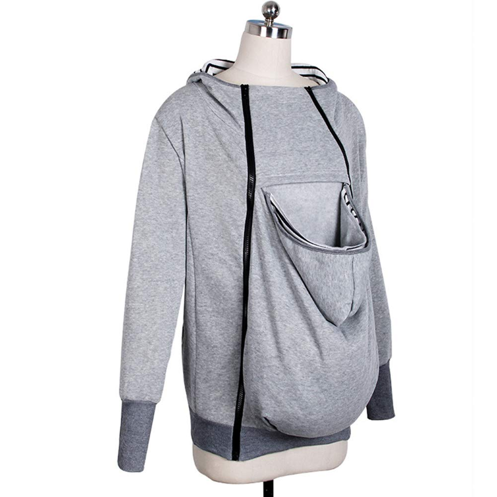 Kangaroo Hoodie Coat for Mom and Baby Carrier Maternity Coat Jacket Sweatshirts
