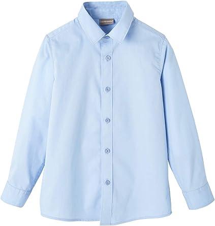 VERTBAUDET Camisa niño de Popelina Azul Claro Liso 4A: Amazon.es: Ropa y accesorios