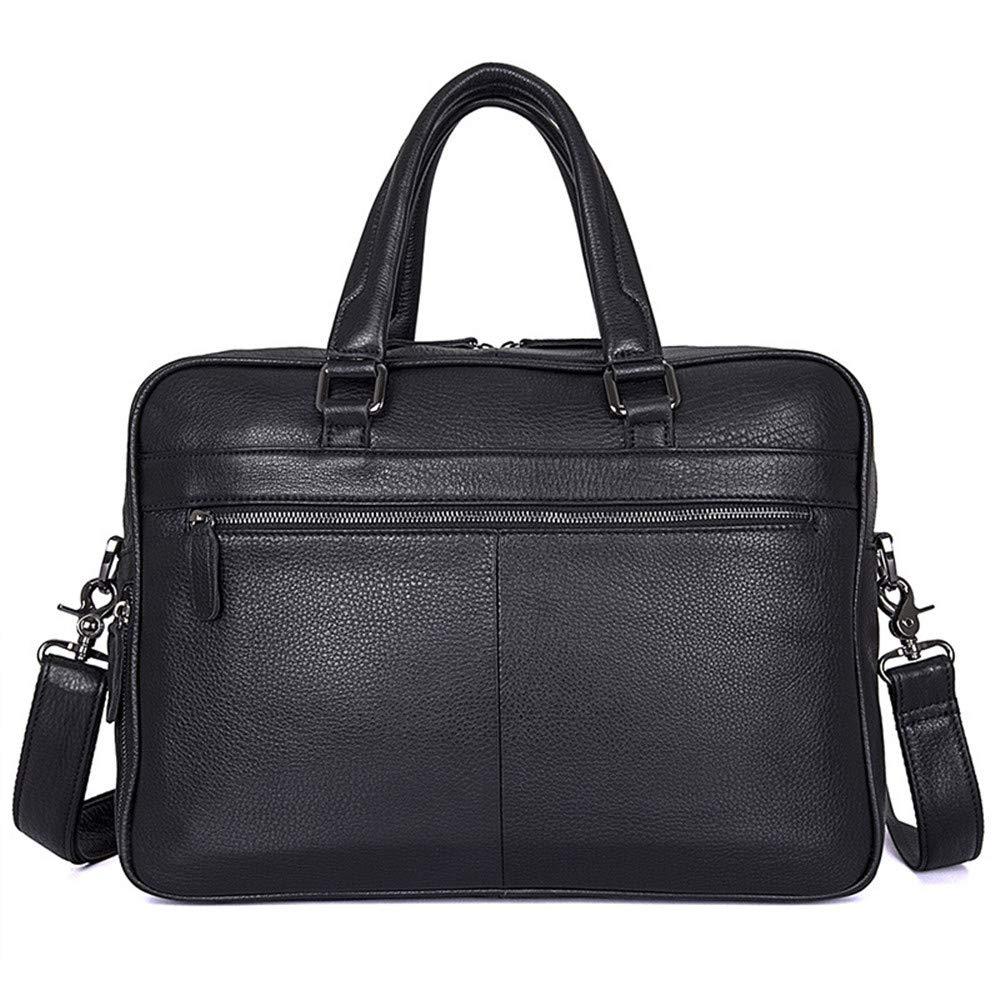 38 10 30.5cm Briefcase KTYXDE Mens Tote Personality Mens Bag Retro Fashion Leather Mens Business Bag Black