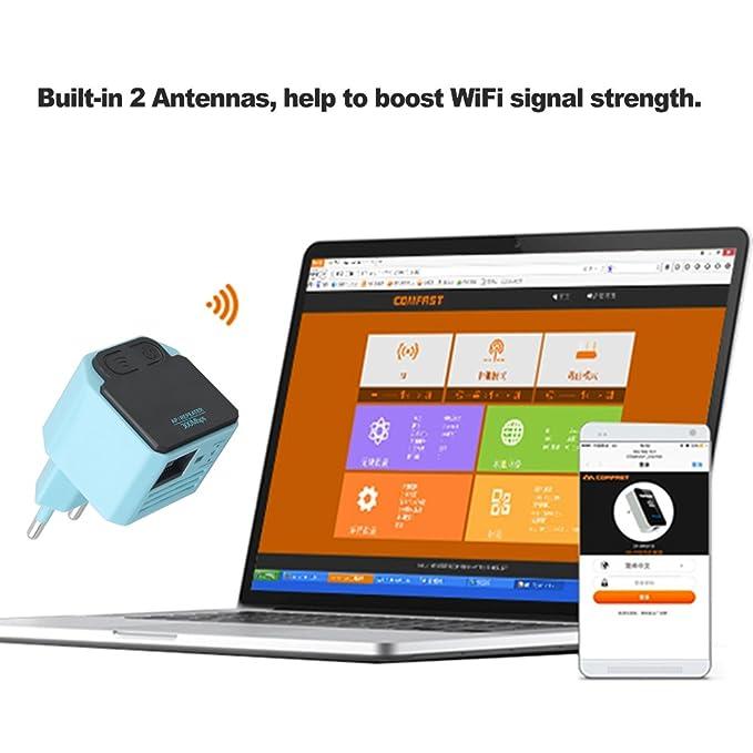 Docooler 300 M Repetidor WiFi Inalámbrico 802.11N Mini Amplificador de Señal AP Extensor de Señal Amplificador de Señal WiFi Extensor de Rango de Señal UE ...