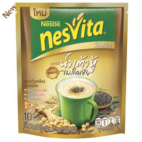 Nestle Nesvita Soy Milk with Wholegrain Instant Breakfast Drink 300g. (25g.x12 Sachets / Pack)