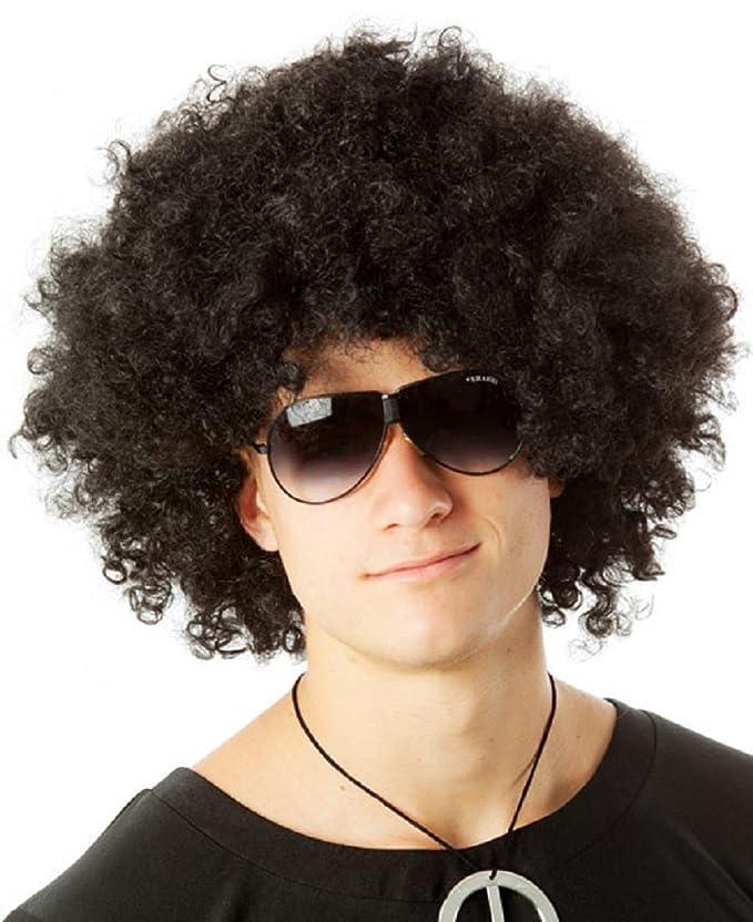 Amazon.com: Afro peluca – Disco Afro peluca (negro/marrón ...