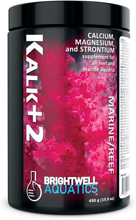 Brightwell Aquatics Kalk+2 - Calcium, Magnesium & Strontium Supplement for Marine Fish and Aquariums