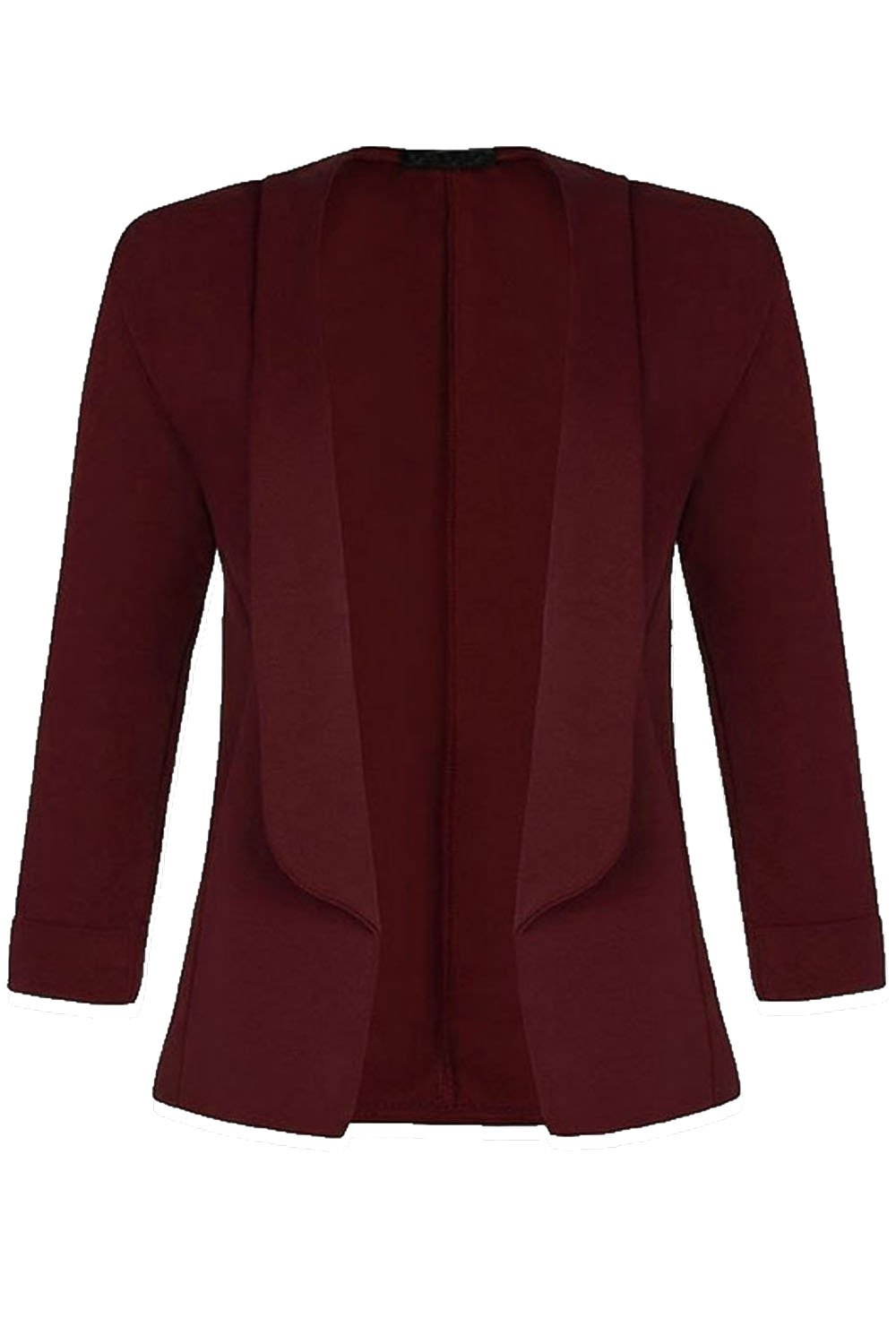 Be Jealous Womens Ladies Stretchy 3/4 Short Turn Up Coat Blazer Jacket