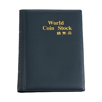 Fdit Münzalbum für Münzen, 10 Seiten, 120 World, Album, Münzen, Münzen, Sammler grün
