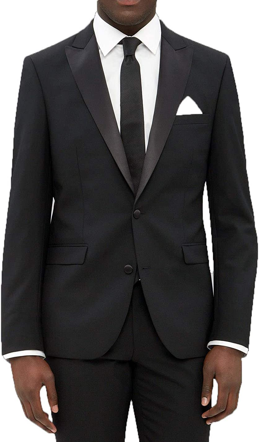 New Era Factory Outlet Mens Slim Fit Notch Collar Tuxedo Jacket