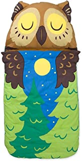 product image for Magic Cabin Kids' Woodland Sleeping Bag with Built-in Pillow and Carrying Strap, 57''L x 28''W - Owl