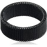 Atiq Black Stainless Steel Ring for Men