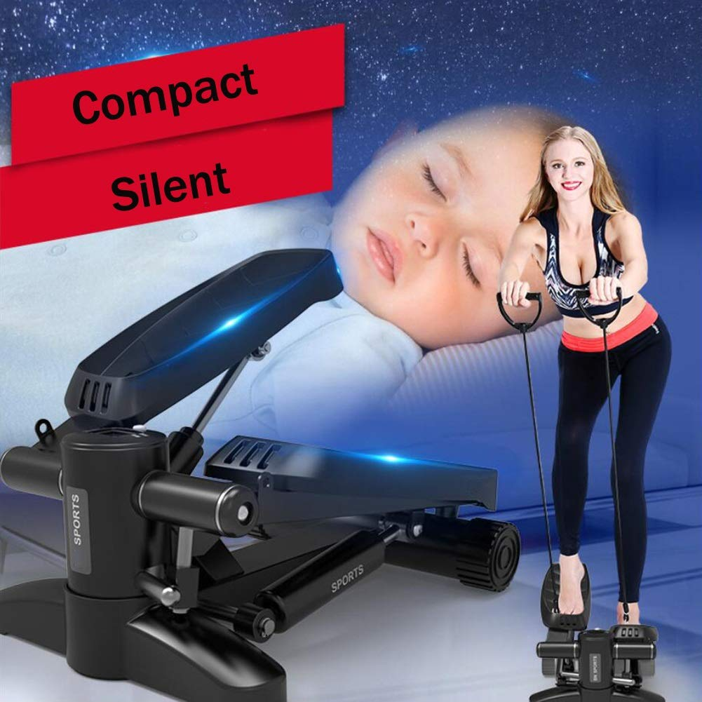 Steppers,Stepper Machine with Training Tapes, Up-Down Steppers with Multifunction Display for Beginners and Advanced Users (Black) by Tabuji (Image #2)