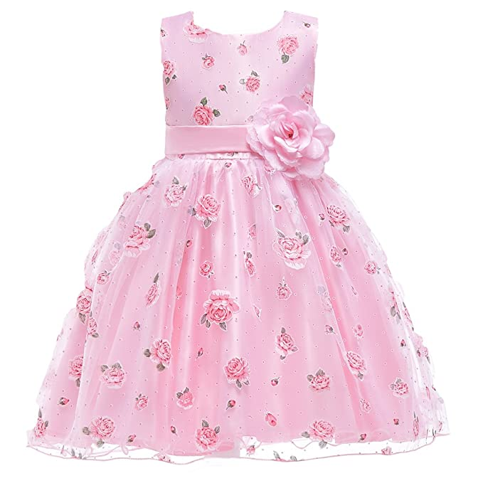 3a1720d9f59f3 Amazon.com: Berngi Baby Girls Floral Flower Pageant Party Birthday Wedding  Communion Dress: Clothing