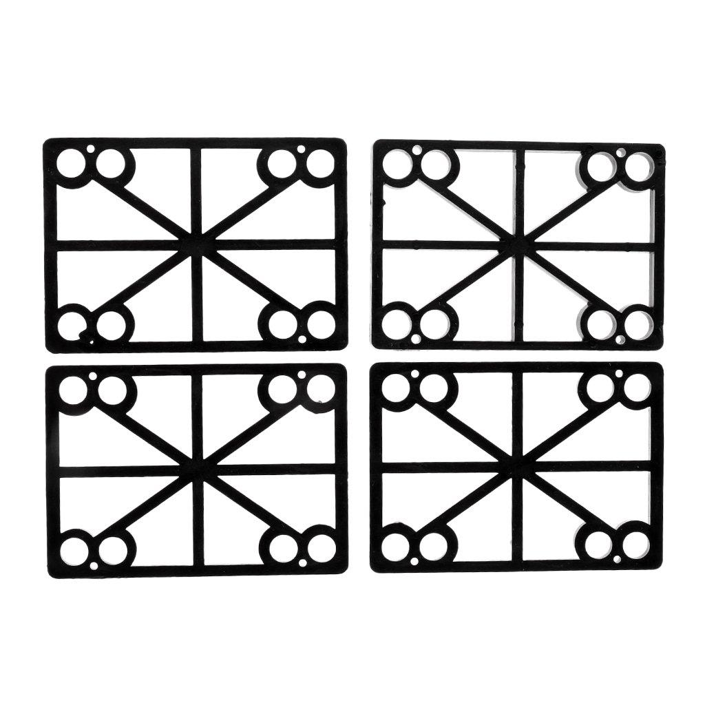 Sharplace 4 Pcs de Almohadillas Antideslizantes de Monopatín Color Negro