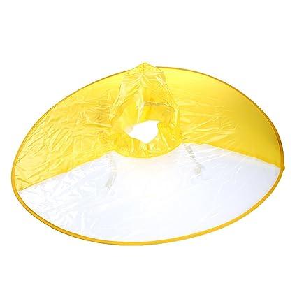 b84c63ed33666 Cianowegy Creative Portable Waterproof Hands Free Umbrella Hat Foldable  Transparent Headwear Cap Raincoat Outdoor Fishing Golf for Kids Adults  Students