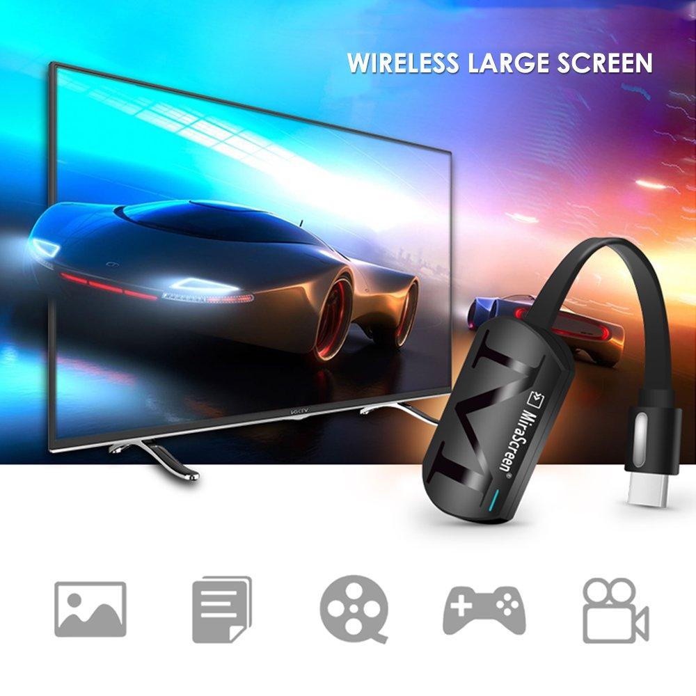 KOBWA WiFi Pantalla Dongle Wireless HDMI Pantalla Espejo TV Receptor Adaptador Stick Soporte Netflix Youtube Miracast Airplay DLNA para Android//Mac//iOS//Windows /…