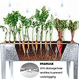 FOYUEE Galvanized Raised Garden Bed Outdoor Herb