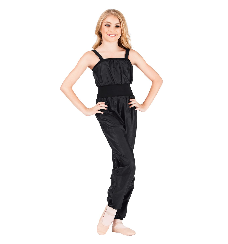 Body Wrapper Girl's Full Length Strap Nylon Overalls Body Wrappers 072