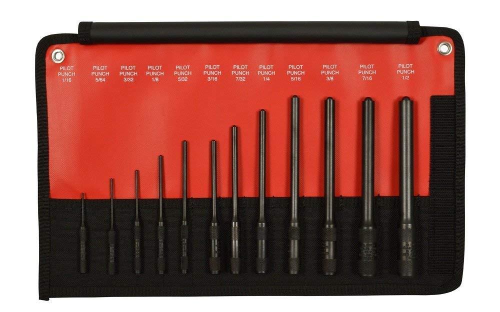Mayhew Pro 62254 112-K Pilot Punch Kit, 12-Piece by Mayhew Tools