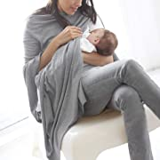 iSkylie Women Maternity Party Dresses Clothes Mom Pregnancy Dress Maternity Ruffles Solid Clothes (Gray, L)