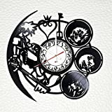 Kingdom Hearts Handmade Vinyl Record Wall Clock - Get Unique Bedroom or Kitchen Wall Decor - Gift Ideas for Boys and Girls - Video Game Characters Unique Art Design