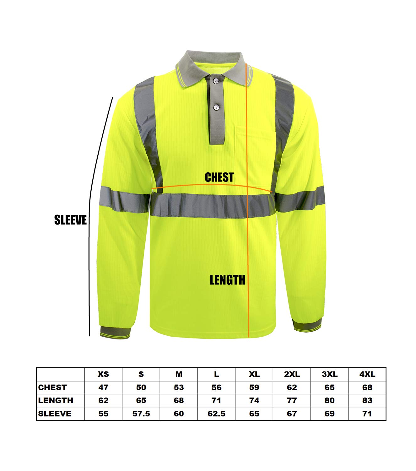 Safety short sleeve T-shirt Reflective stripes Safety Hi-vis Yellow knitted breathable shirt Bright Construction Workwear for men.Yellow Meets ANSI//ISEA Standards. Extra Large