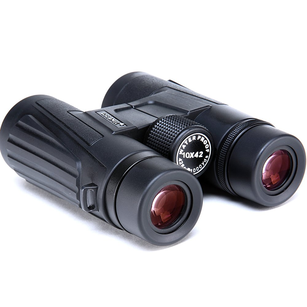 USCAMEL 10x42 Binoculars, Portable, Waterproof, Anti-fog, Outdoor Travel, ED High Definition Optical Coating, Black