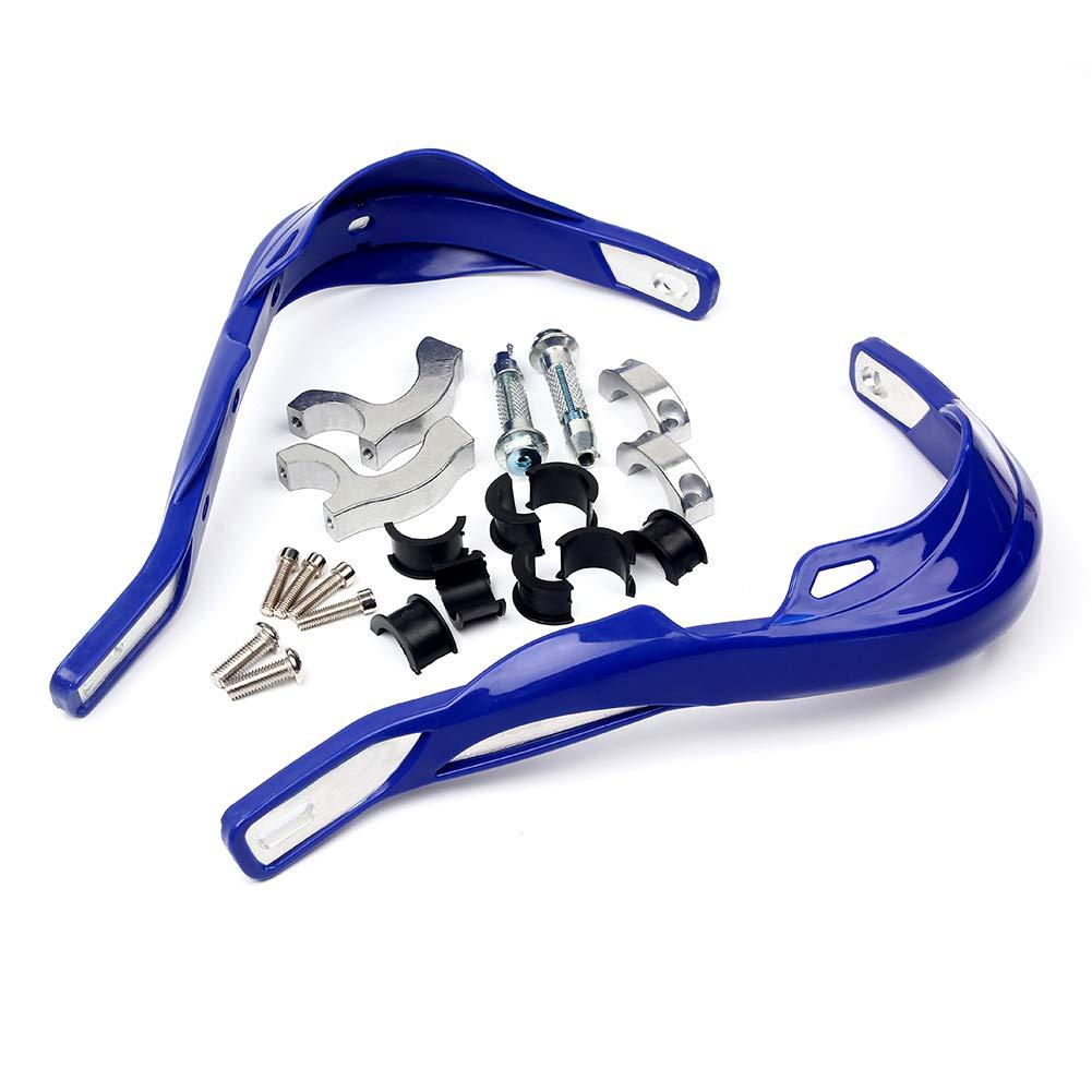 Triclicks Paramani per Manubrio 22mm//28mm Moto//Motocross Alluminio Universale Colore Carbonio