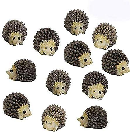 Mini Hedgehog Animals Miniature Fairy Garden Moss Micro Landscape Ornament-Toys