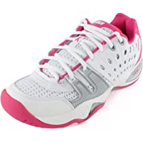 ... Prince T22 White/Pink Womens Shoes ...