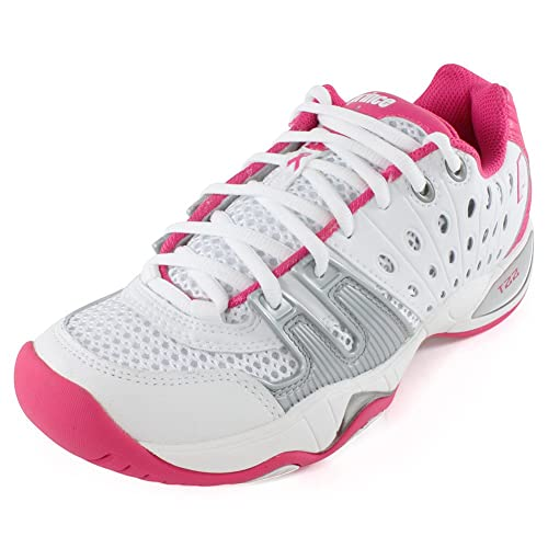 Prince T22 Womens Tennis Shoes (7.5, White/Pink)