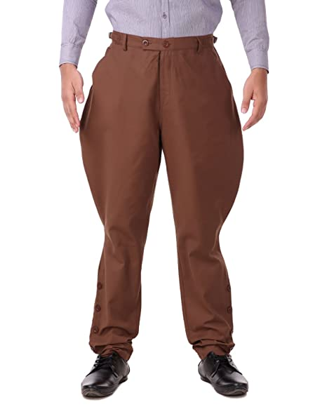 Men's Vintage Pants, Trousers, Jeans, Overalls ThePirateDressing Steampunk Victorian Cosplay Costume Mens Archibald Jodhpur Pants Trousers C1326 $44.95 AT vintagedancer.com