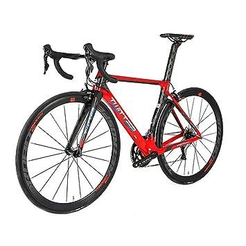 neum/áticos Michelin 25C y Freno Sava Bicicleta de Carretera de Carbono Bicicleta de Carretera Warwinds5.0 700C de Fibra de Carbono con Sistema de Cambio Shimano 105 R7000 22-Velocidad