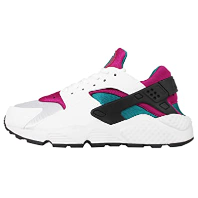 nike womens WMNS AIRE HUARACHE RUN White/Sport Fuschia/Summit White/Radiant 634835-107 6.5