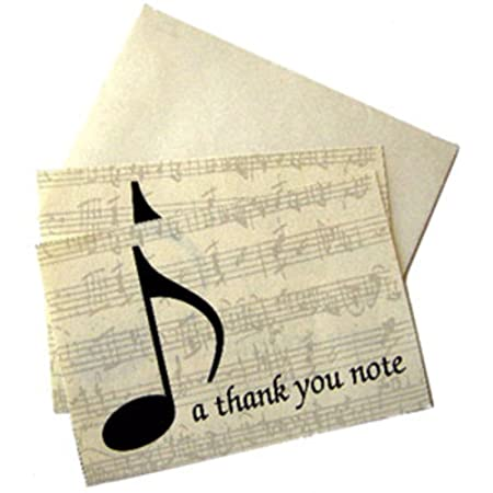 a thank you note pack of 10 notelets and envelopes music gifts