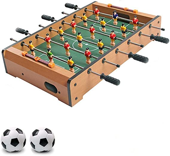 LMCLJJ Mesa de futbolín de Interior for niños y Adultos con ...