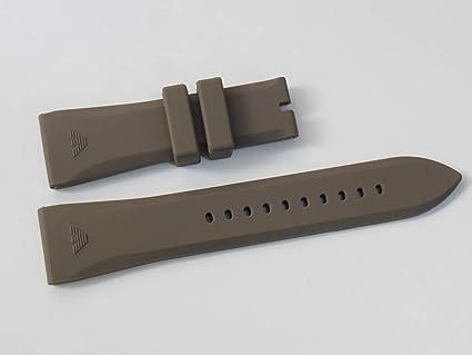 ede2a2814e50 Amazon.com   24mm Grey Rubber Watch Strap Band Bracelet For Emp. Armani  AR0336 AR4238 AR5949   Everything Else