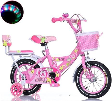 Sheng Bicicleta niño niño niña bebé 3-10 años de Edad Bicicleta 12/14/16 Pulgadas niño Bicicleta Rosa: Amazon.es: Deportes y aire libre