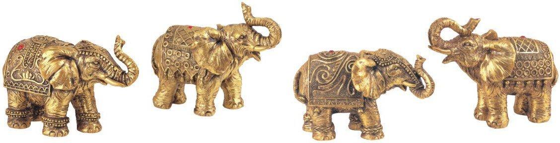 Set of 4 Thai Elephant Collectible Statue Figurine Decoration Decor