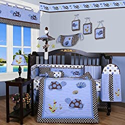 GEENY Boy's Boutique Sea Turtle 13 Piece Baby Crib Bedding Set