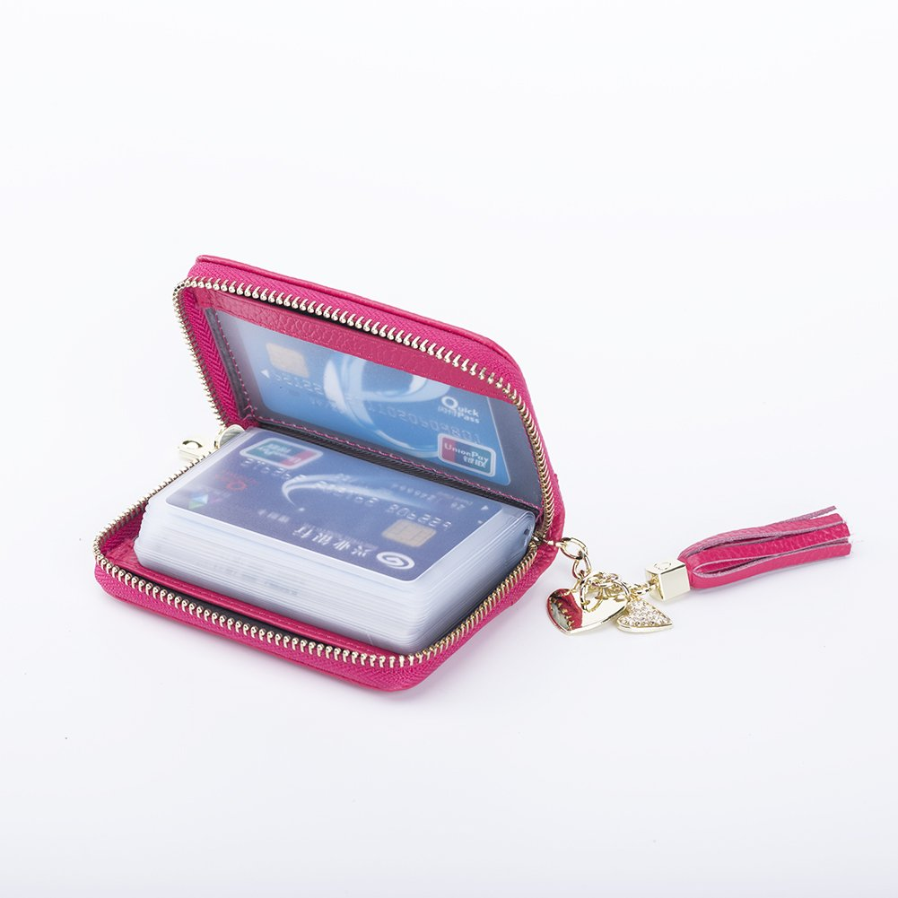 SYGY Women's Credit Card Holder purse (Red) by SYGY (Image #4)
