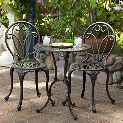 Christopher Knight Home Thomas Cast Aluminum Dark Gold 3-piece Bistro Set ()