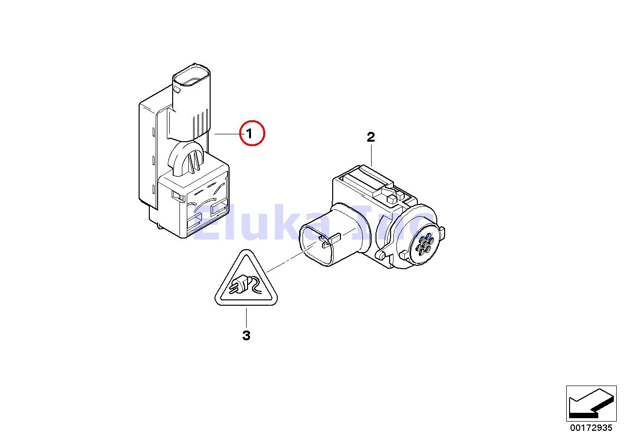 BMW Genuine Auc Sensor - Automatic Recirculated Air Control 525i 530i 545i  550i M5 645Ci M6 645Ci M6 745i 750i 760i ALPINA B7 745Li 750Li 760Li