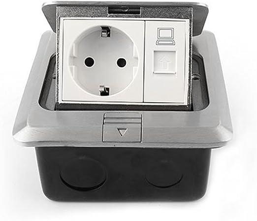 Base enchufe compartimento de bolsillo 2. 3 empotrable enchufe enchufe RJ45 netzwerkse pared enchufe mesa enchufe RJ45 de red (de 1 Compartimento): Amazon.es: Hogar