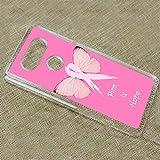 [TeleSkins] - LG V20 Plastic Clear Case - Breast Cancer Pink Is Hope - Ultra Durable Slim Fit, Protective Plastic Designer Snap On Back Case / Cover