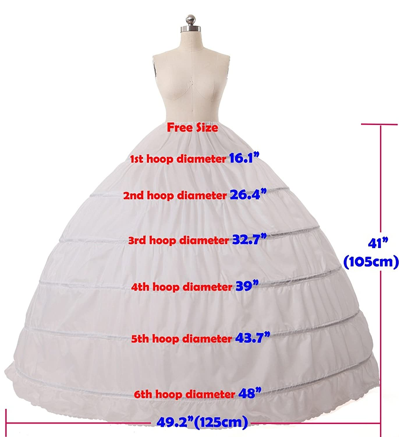 Tea Length Hoop Skirt