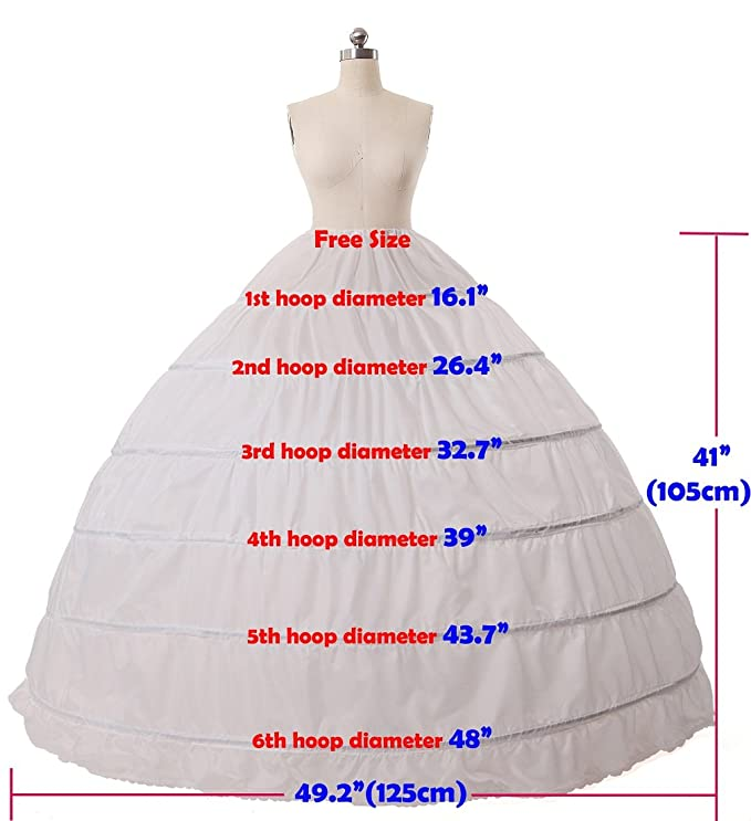 d8d938963e12b MISSYDRESS Full A Line 6 Hoops Floor Length Bridal Dress Gown Slip  Petticoat Black At Amazon